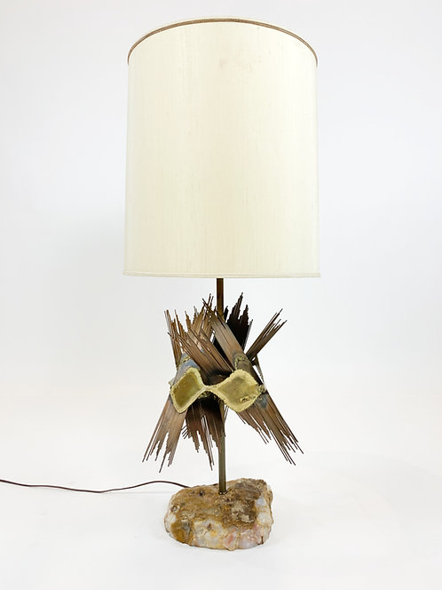 Incredible Brutalist Lamp by Bijan