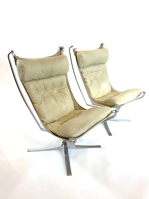 Rare Sigurd Ressell Falcon Chairs by Dux