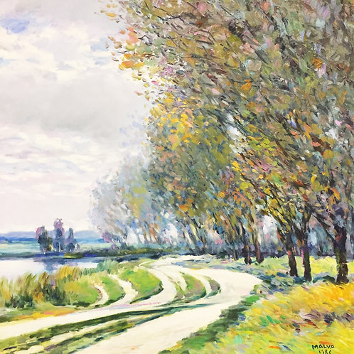 Impressionist Painting by Malva