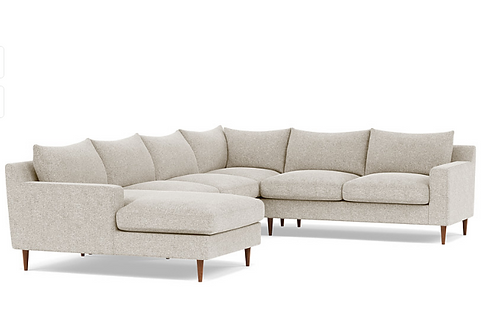 Interior Define Sloan Corner Sectional with Left Chaise