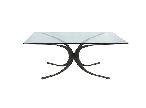 Sculptural Hand Forged Iron Dining Table Base by Stephen Bondi (1948-2004)