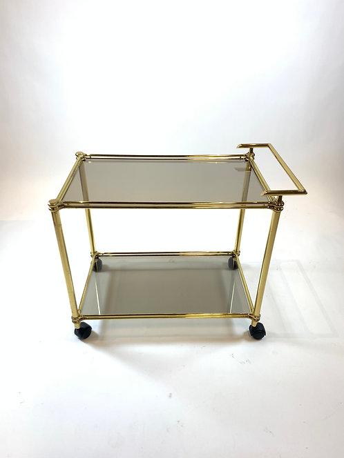 Brass Bar Cart with Glass