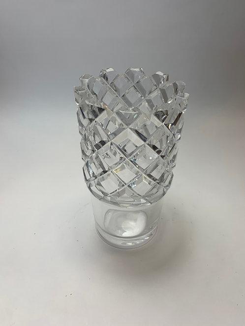 "Swedish Orrefors 8"" Lead Glass Vase ca 1970's"