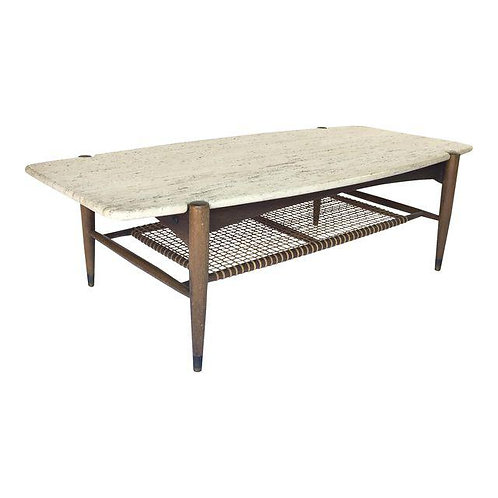 Folke Ohlsson for Dux Travertine Cocktail Table