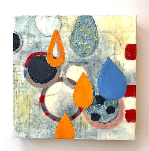 """Drop"" Encaustic by Judith Williams"