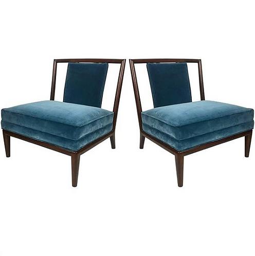 Walnut Slipper Chairs