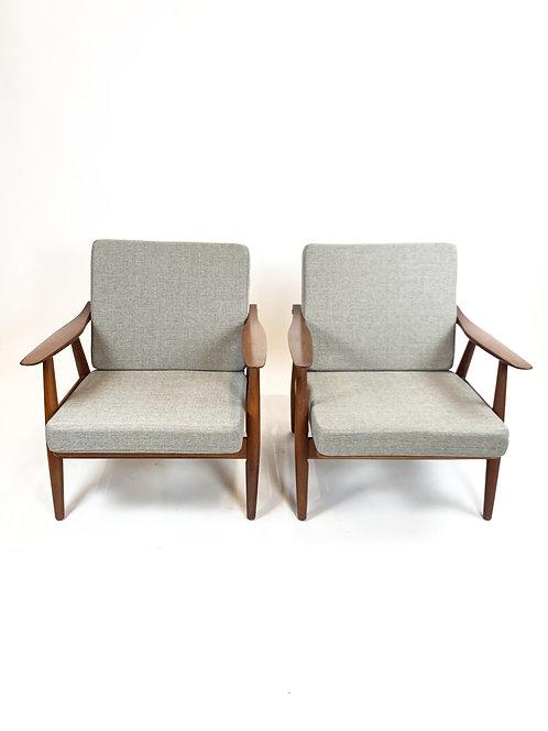 Hans Wegner GE-270 Lounge Chairs for Getama