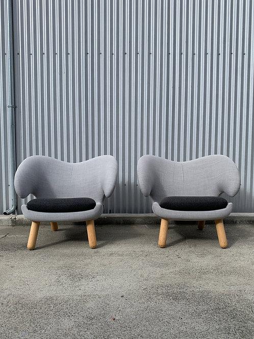 Pair of Finn Juhl Pelican Chairs, House of Finn Juhl
