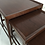 Thumbnail: Set of Three Modernist Walnut Nesting Tables