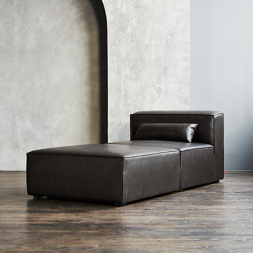 Mix Modular Chaise 2-Pc - Vegan Leather