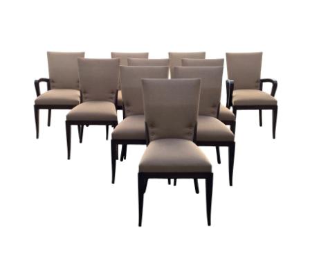 Dakota Jackson Cadette Chairs, Set of 10