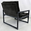 Thumbnail: Pair of Ebonized Cerused Oak Scoop Chairs by Milo Baughman
