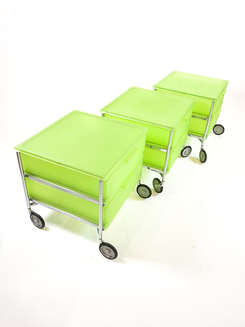 "Kartell ""Mobil"" Storage Cart, Lime Green"