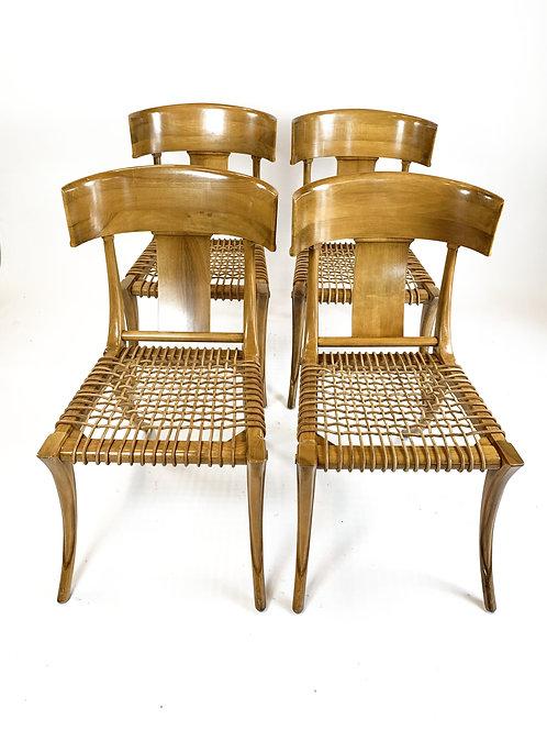 Set of Four Rare Klismos Chairs
