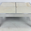 Thumbnail: Large Scale Chrome Coffee Table with Inset Marble Top