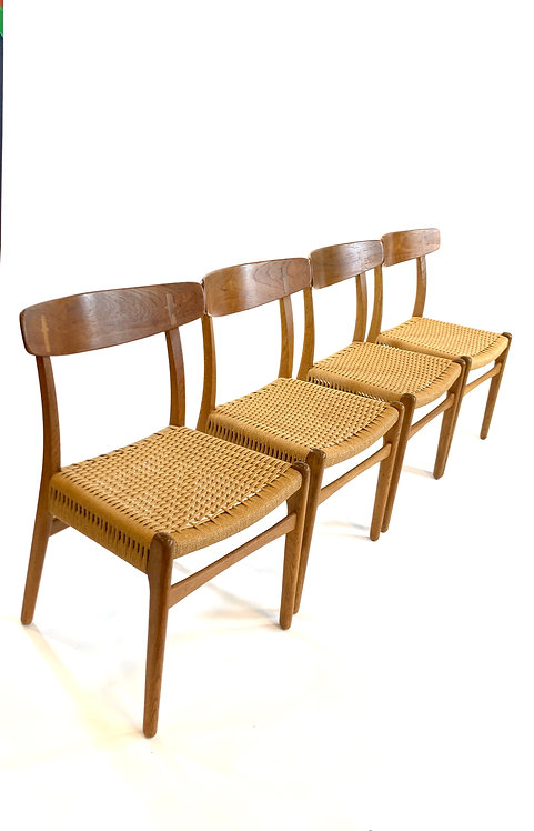 Set of 4 Hans Wegner CH-23 Dining Chairs