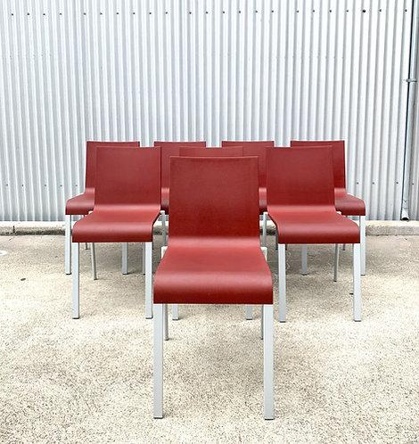 Maarten van Severen .03  chairs for Vitra (Set of 8)