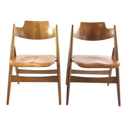Se-18 Folding Chairs by Egon Eiermann - A Pair
