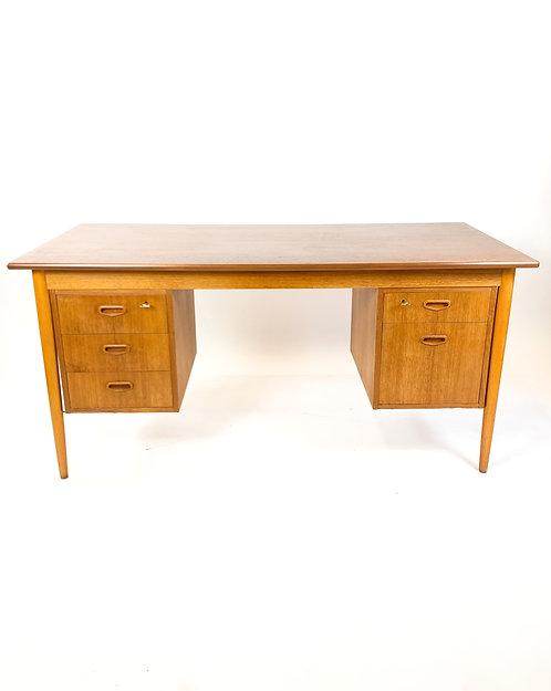 Danish Modern Teak Desk by Kai Kristiansen