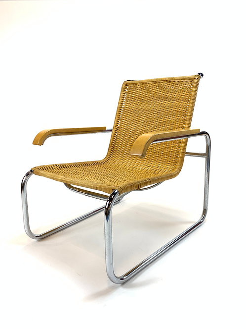 Vintage Marcel Breuer for Stendig B-35 Caned Chair