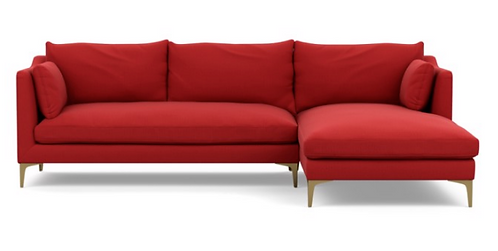 "Interior Define ""Caitlin"" by The Everygirl Sofa in Ruby"