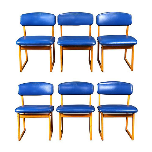 Børge Mogensen Oak Side Chairs (6)