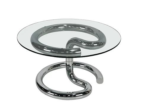 Chrome Anaconda Side Table by Paul Tuttle