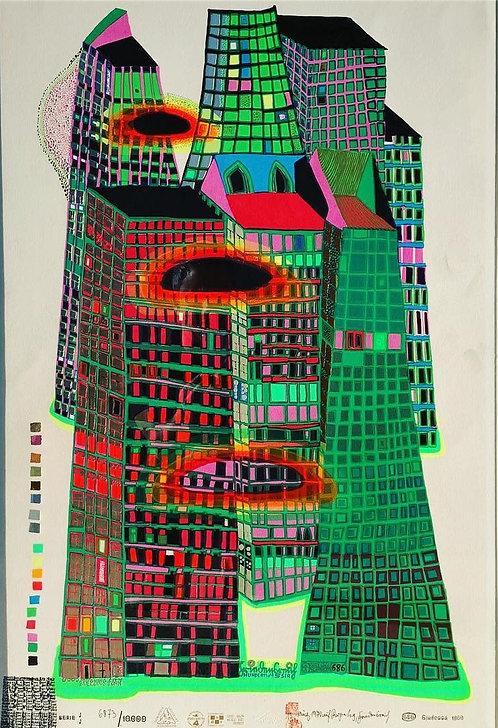 Good Morning City- Bleeding Town Friedensreich Hundertwasser