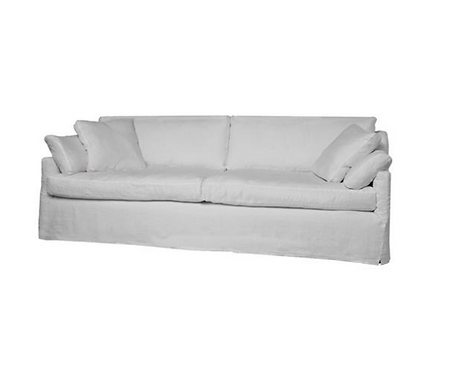 Cisco Brothers Donato Slipcovered Down Sofa, as new condition
