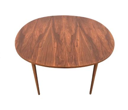 Mid Century Walnut Kipp Stewart for Drexel Dining Table - Two Leaves