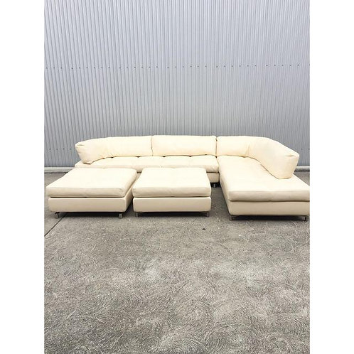 "Roche Bobois ""Friend"" Leather Sectional"
