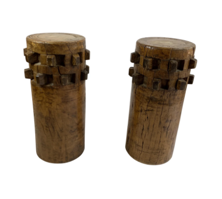 Philippine Vintage Acacia Cane Grinders - a Pair