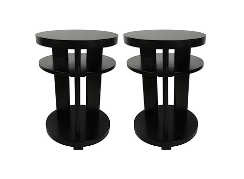 Pair of Ebonized Mahogany Side Tables by Paul Laszlo