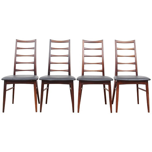 "Neils Koefoed ""Lis"" Rosewood Dining Chairs"