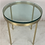 Thumbnail: Pair of Brass Side Tables by Nicos Zographos