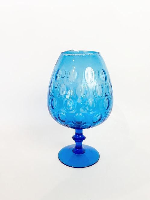 Handblown Goblet Form Glass Vase