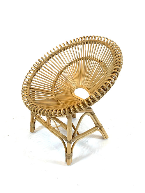 Woven Caned Rattan Hoop Chair, Six Avail