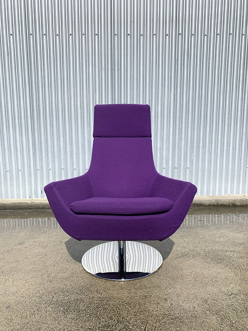 "Swedese ""Happy"" Chair in Purple Divina Wool Felt"