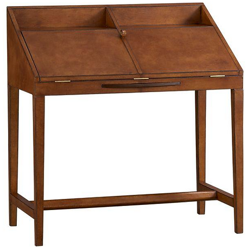 Emerson Leather Secretary Crate and Barrel