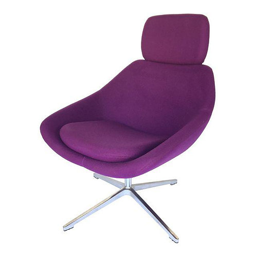 Allermuir Purple Swivel Chair