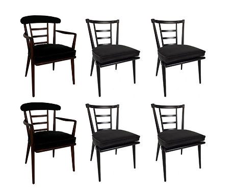 Set of Six Dining Chairs by Bert England for Johnson Furniture