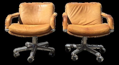 "1980s Vintage Geoffrey Harcourt for Artifort ""Ambassador"" Chairs - A Pair"