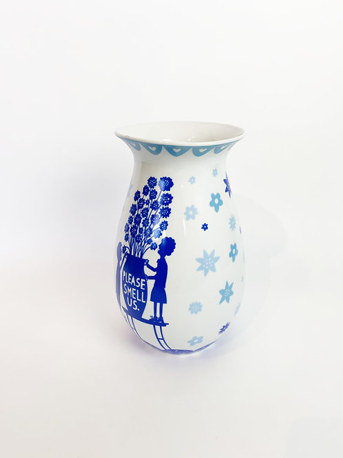 "Rob Ryan ""Please Smell Us"" Vase"