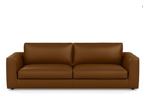 EQ3 Leather Cello Sofa and Ottoman