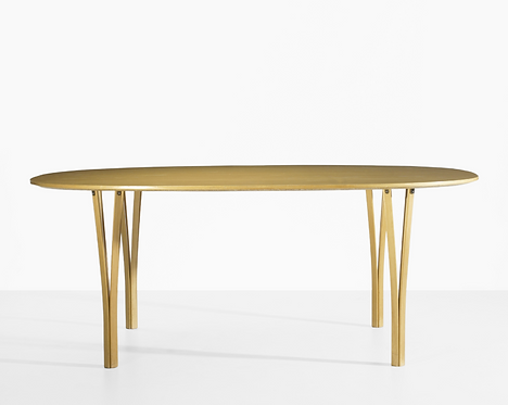 Piet Hein and Bruno Mathsson  Super Ellipse dining table