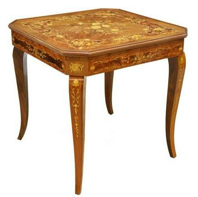 Italian Inlaid Games Table with multiple play surfaces