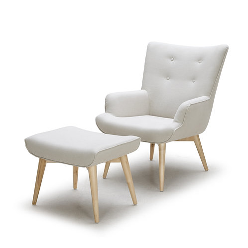 A-897 Wing Chair w/ Ottoman