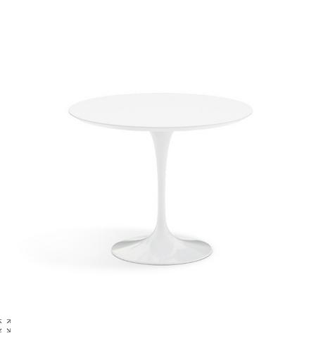 """Eero Saarinen 36"""" Round White Tulip Table for Knoll"""