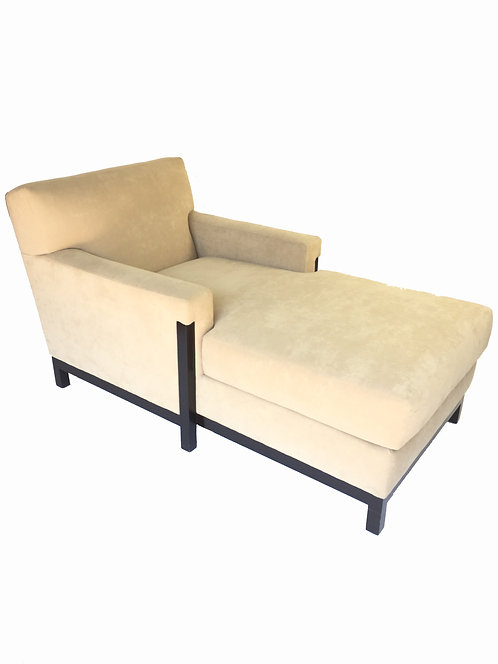 Chaise w/ Wood Frame Base