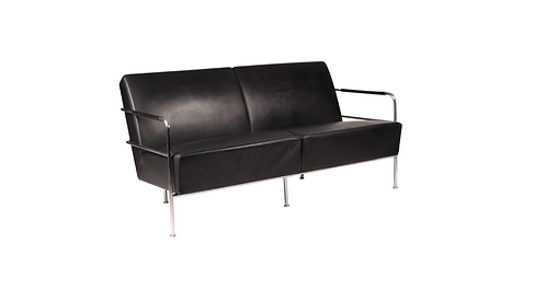 Gunilla Allard for ICF Black Leather Sofa